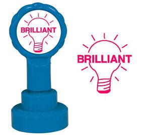 Brilliant-Light-Bulb-Teacher-Reward-Stamp-Xstamper-x012