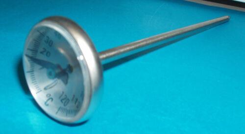 Bimetall Fleischthermometer Stechthermometer mit Edelstahlfühler 0-120-Metzgerei
