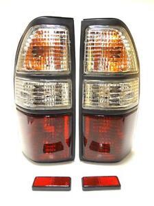 Toyota-land-cruiser-hdj-90-95-luces-de-senal-de-cola-trasero-1995-2002-Conjunto-De-Lampara-Cristal
