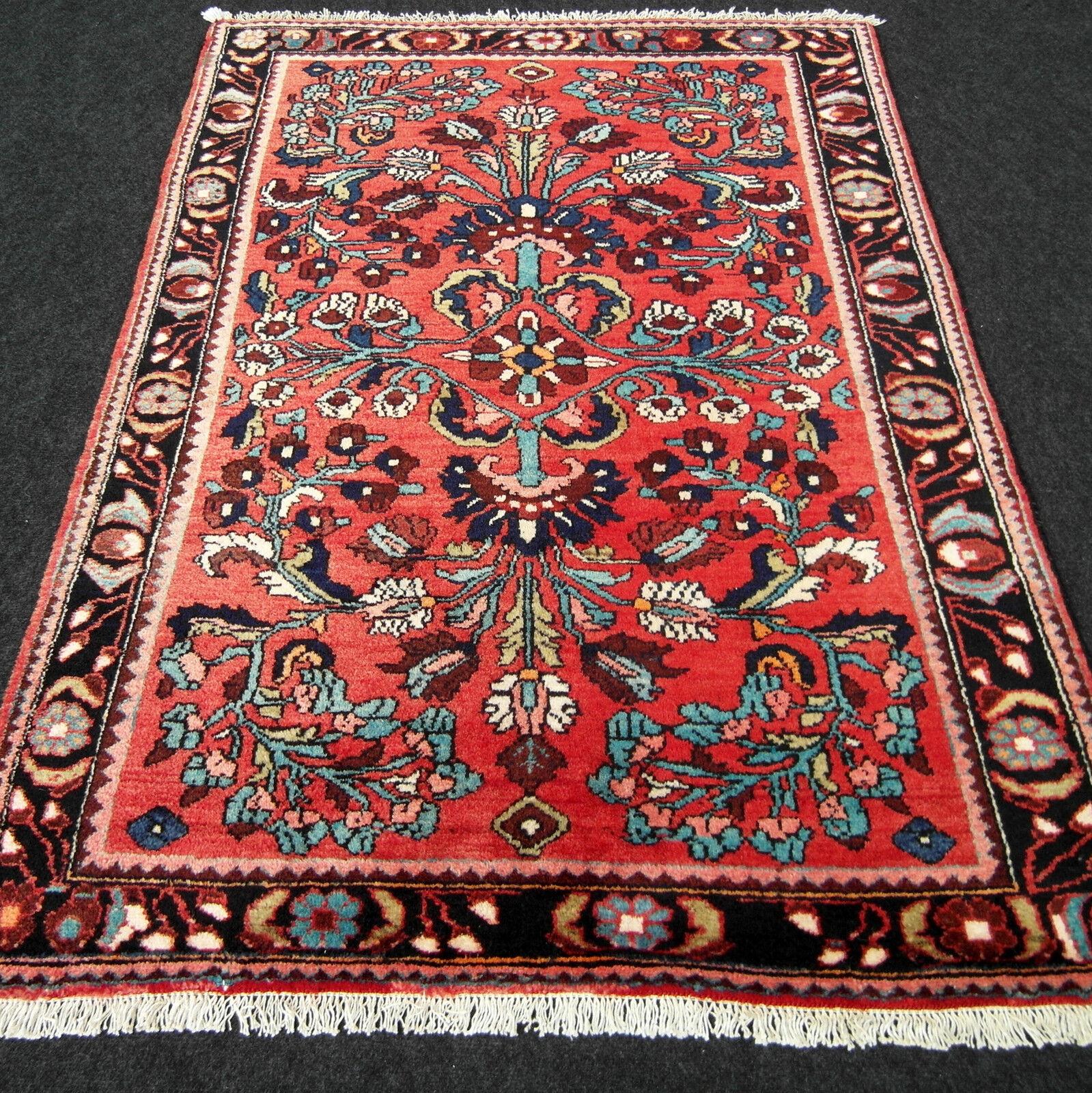 Edad Orient alfombra de 159 x 112 cm alfombra persa rojo floral rojo carpet Rug tapis