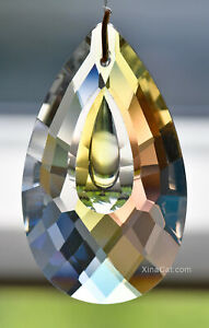 50mm-Pear-Illusion-Drop-Crystal-Clear-AB-Prism-SunCatcher-2-inches