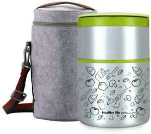 32OZ-Vacuum-Insulated-Stackable-Stainless-Steel-Thermal-Lunch-Box-2-Tier-With-In