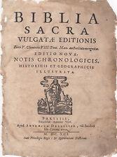 1691 Small Folio Biblia Sacra (Latin) Bible Leaves -YOU CHOOSE THE LEAF