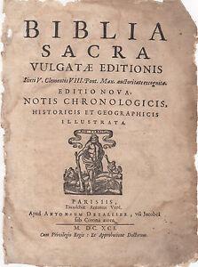 1691-Small-Folio-Biblia-Sacra-Latin-Bible-Leaves-YOU-CHOOSE-THE-LEAF