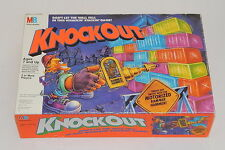 Milton Bradley Knockout Wall Stack 1991 Board Game With Rammer Hammer