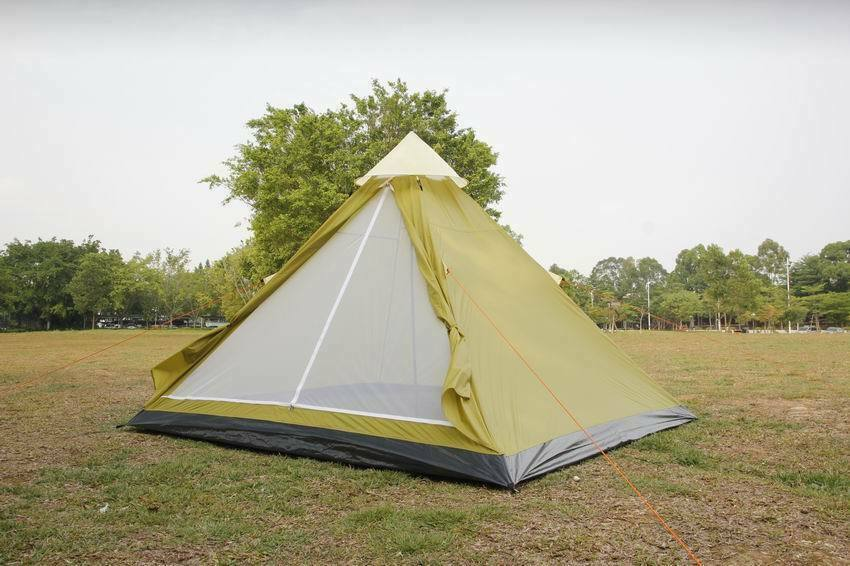 4 person tent Tipi apache camping tent mesh door & vents spacious & waterproof