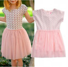 Kids Toddler Baby Girls Princess Summer One-piece Tulle Tutu Dress Clothes 1-6T
