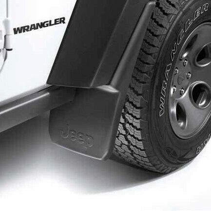 Paraspruzzi Anteriore con Logo ORIGINALI Jeep Wrangler Set 2pz New FCA