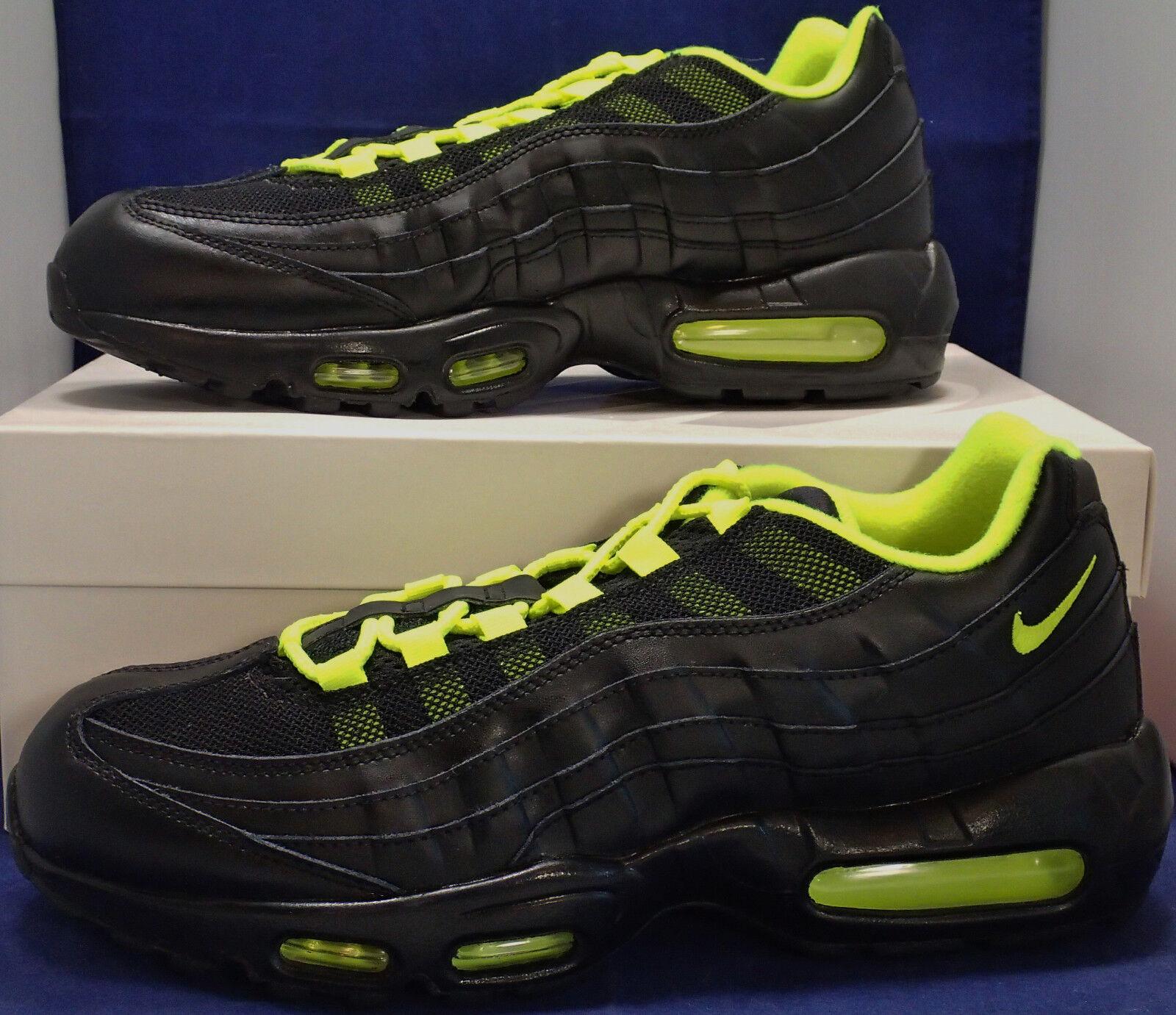 Nike Air Max 95 iD Black Volt SZ 10.5 ( 818592-994 )