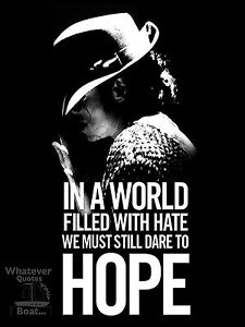Michael Jackson Poster Print Quote Famous Picture Wall Art Gift All