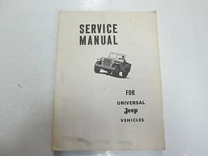 jeep universal dispatcher 4wd 2wd cj2a cj3b 3a cj5 cj6 dj3a service rh ebay com 1963 Willys CJ3B willys cj3b service manual