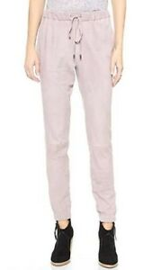 Sold-Out-Derek-Lam-10-Crosby-Taupe-Suede-Track-Pants-Sz10-US-M-BNWT-RRP-1895