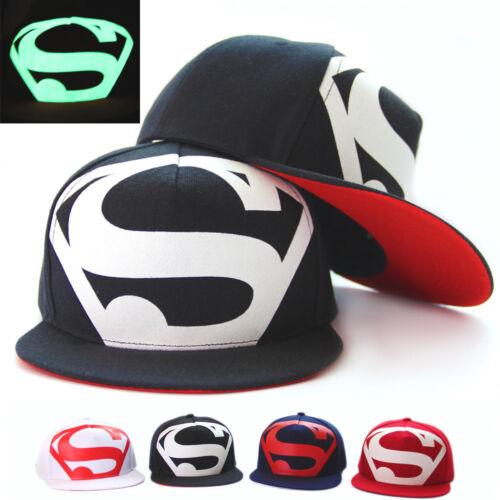 Damen Herren Superman Baseball Cap Basecap Freizeit Kappe Snapback Trucker Mütze