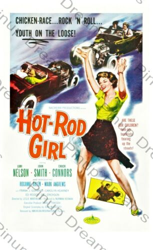 Classic Poster Print Vintage Rock n Roll Movie Hot Rod Girl print Various sizes