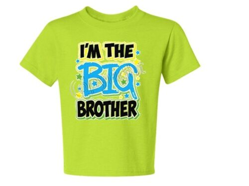 T-Shirt 6 Months TO 18-20=XL I/'m The BIG BROTHER NEON KIDS Asst Colors Avail