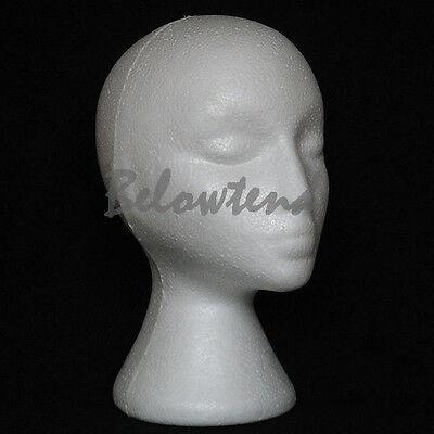 Female Foam Styrofoam Mannequin Manikin Head Stand Model Wig Hat Display O