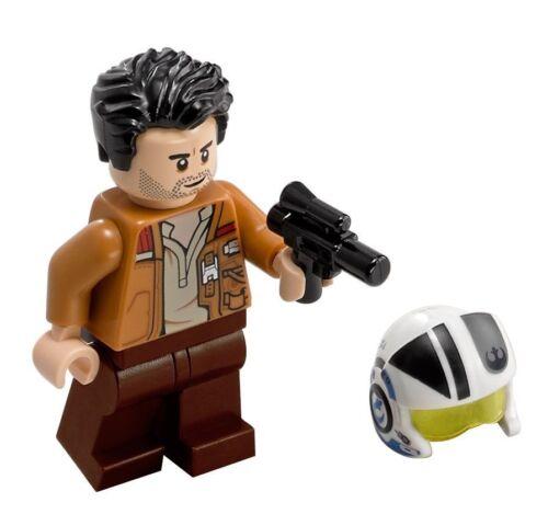 Lego Star Wars 75149 Pilot Poe Dameron mit Helm und Haar