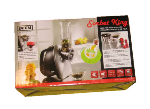 Raspel BEEM Sorbet-King NEU Eismaschine elektrische Reibe Silber//Schwarz