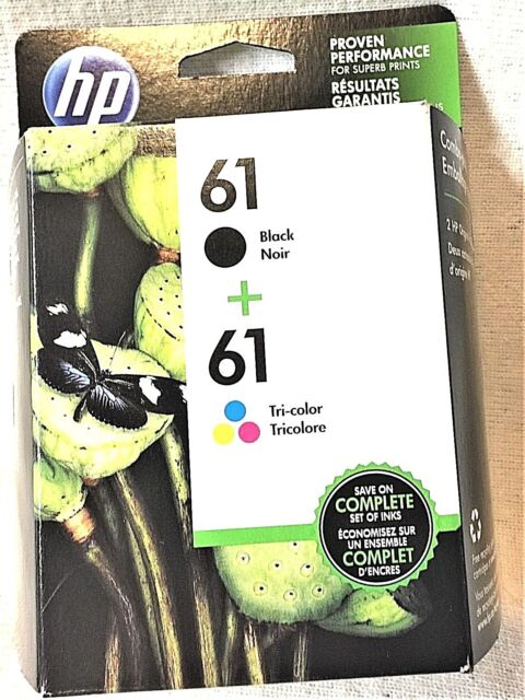 ORIGINAL HP Multi-Pack 61 TRI Color & Black INK 2 Cartridges Exp 03/2021 CR259FN