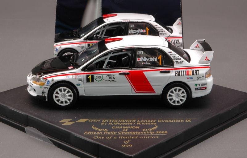 Mitsubishi Lancer Evolution X Rally Africa 2008 1 43 Model 43404 VITESSE