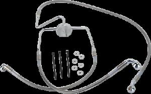 Drag Specialties 1741-2636 Extended Stainless Steel Front Brake Line Kit HD RK