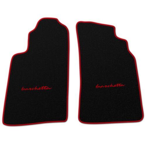 Für Fiat Barchetta 1995-2000 Schrift mittig Auto Fußmmatten Autofußmatten zB rot