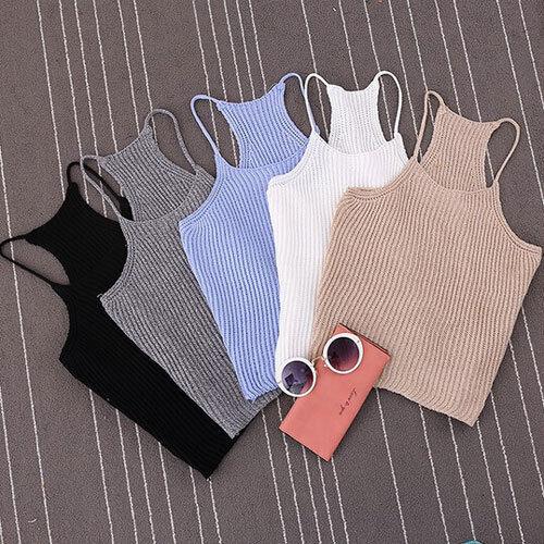 2016 Sexy Women Bralette Bralet Bustier Crop Top Cami Tank Tops Sleeveless Vest