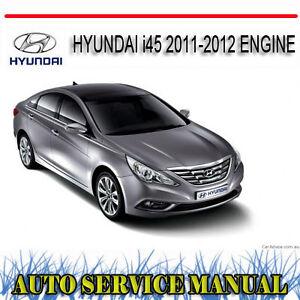 hyundai i45 2011 2012 engine workshop repair service manual dvd ebay rh ebay com au Hyundai I45 Houston Hyundai I40