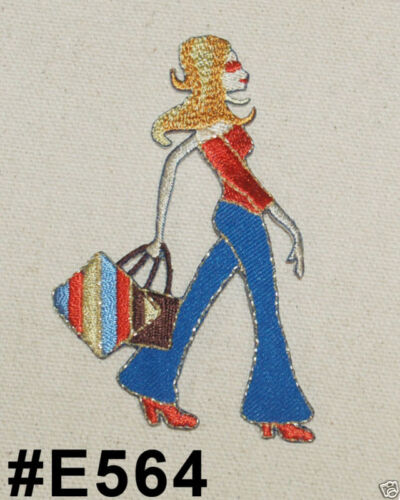1PC~SHOPPING DISCO CHIC DIVA~IRON ON APPLIQUE PATCH