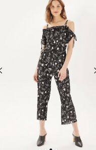 a53783e5c2f Image is loading Topshop-Blossom-Print-Jumpsuit-Uk-8-Rrp-49