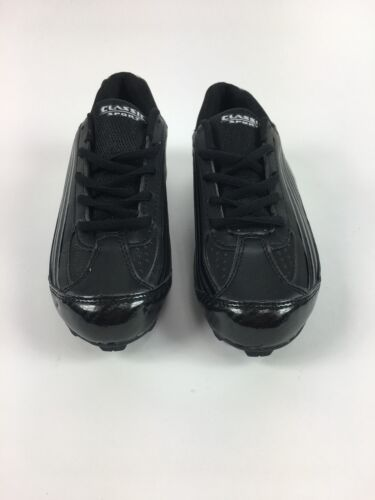 New Classic Sports Youth Size 4.5 Baseball Cleat Black Silver Child Kids 4.5Y