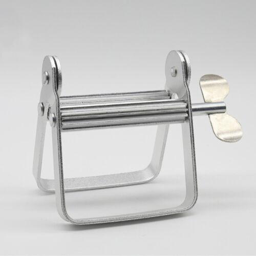 Zahnpastaspender Spender Metallfarbe Aluminium Tube Wringer Hand Rolle LWT