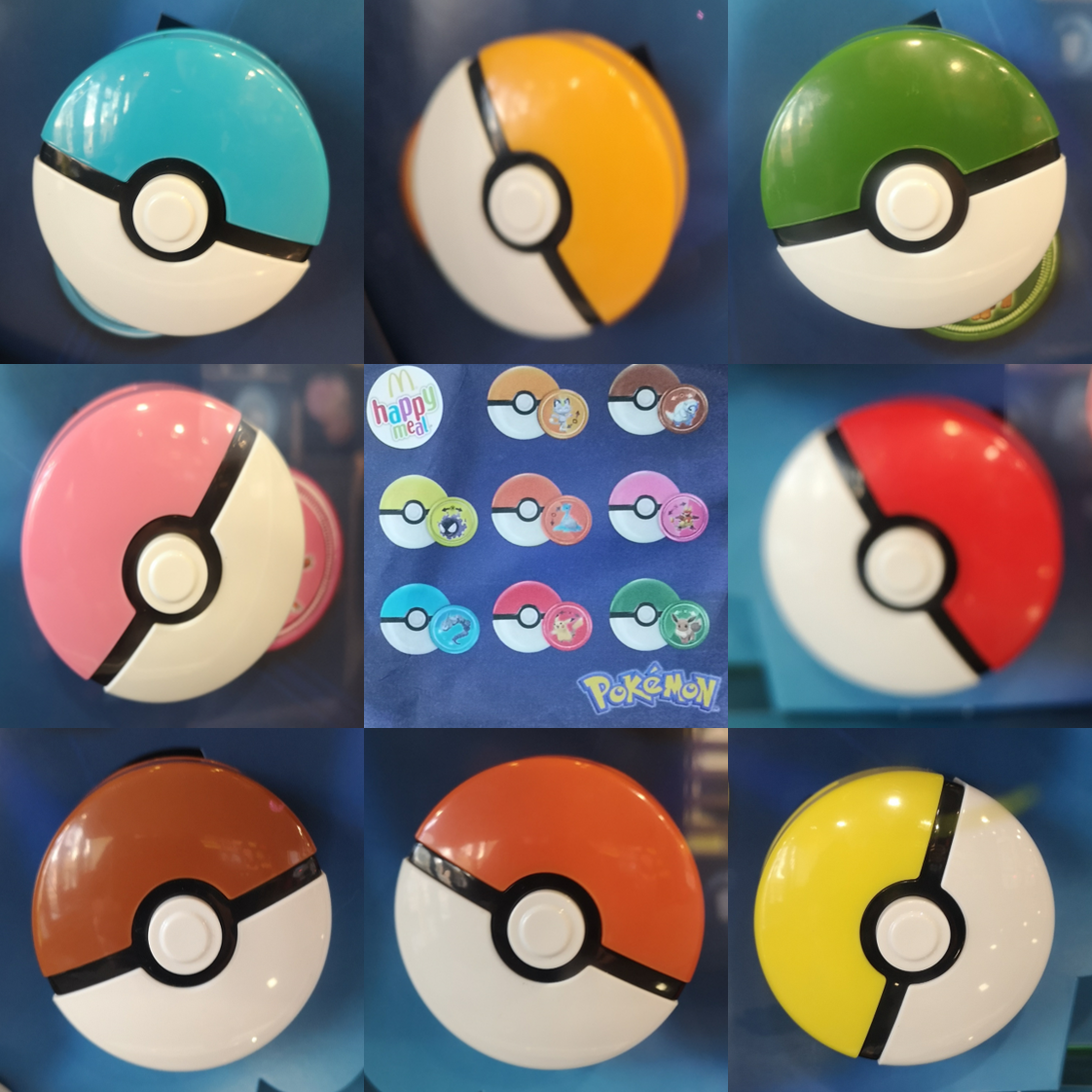 McDonalds Happy Meal Toy UK 2020 Pokemon Pokeballs Beltclip Toys + Card  Various