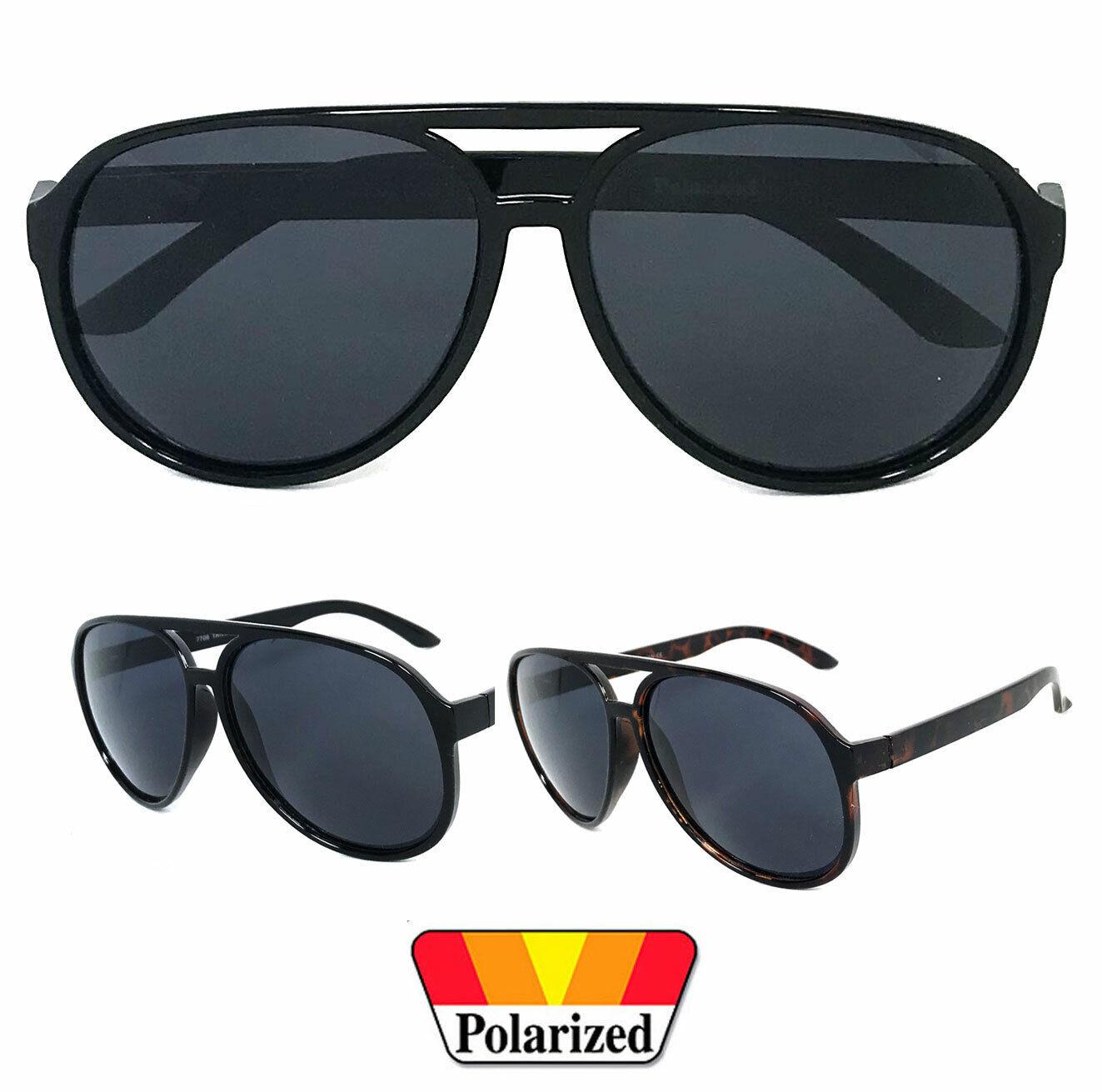 1 Oder 2 Paar 80s Polarisiert Groß Pilot Retro Sonnenbrille SPORTS Fahren Dunkel