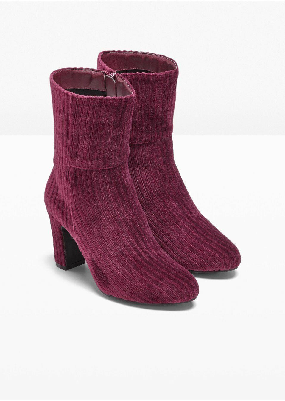 Heine Stiefelette 35 36 41 Bordeaux Sternchen Leder Textil Kurzstiefel Spain NEU