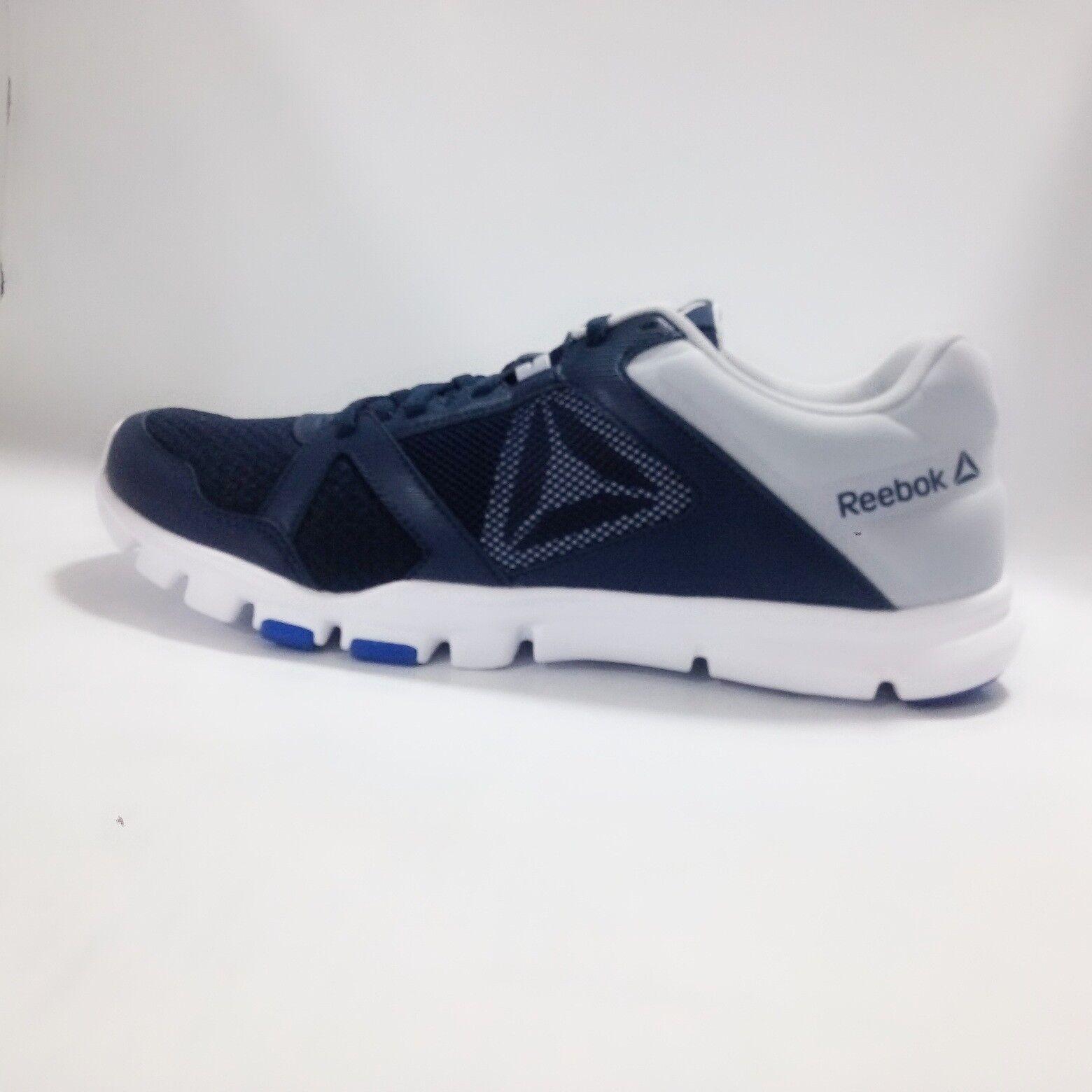 Mens reebok shoes-flexible, train 10-grey bluee-bs9999