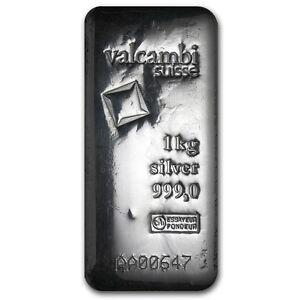 1 Kilo Valcambi Silver Bar Cast W Assay Sku 93344 Ebay