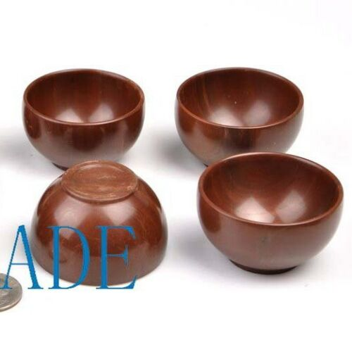 """4pcs 2 1//16/"""" Hand Carved Natural Muyu Stone Bowls//Cups"""