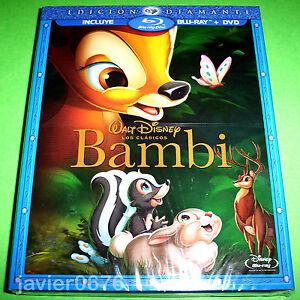 BAMBI DISNEY COMBO BLU-RAY + DVD NUEVO PRECINTADO CLASICO DISNEY NUMERO 5
