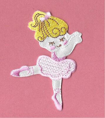 "/""BALLET/"" Iron On Patch Ballerina Dance Dancer Slippers"