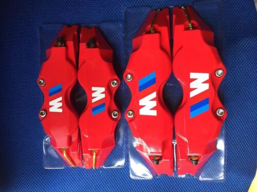 Red BMW M POWER Brake Caliper Cover Disc Caliper Cover L+M 18 Inches and up