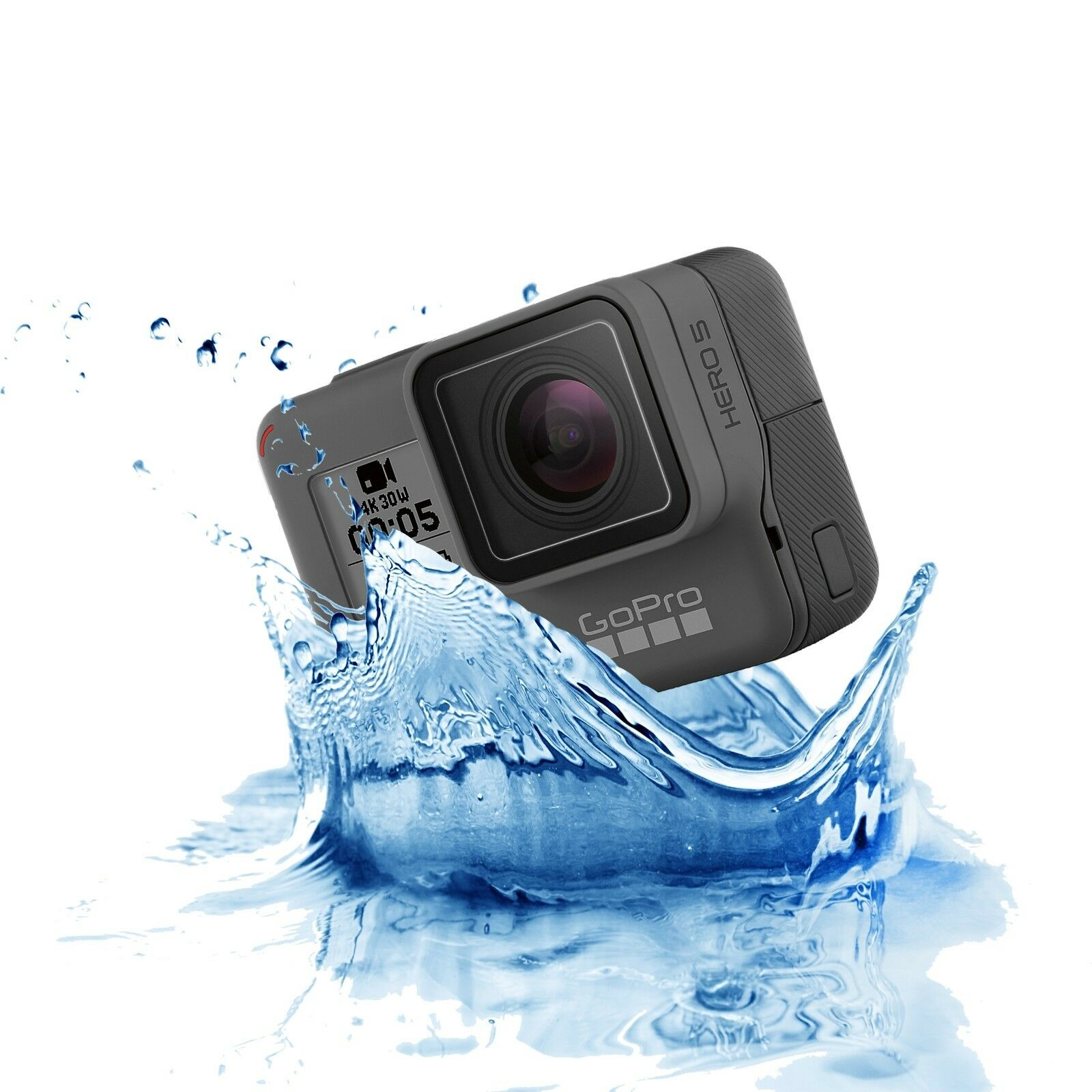 NEW GoPro Hero 5 Black 4K 12MP Action Camera Kit Waterproof Touch Display GPS Featured