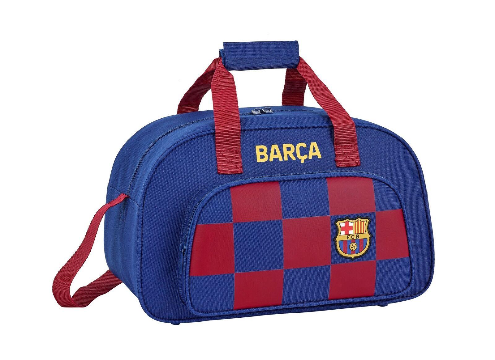 F.C Barcelona Travel Duffel Holdall Holiday Sports Bag 50cm Boys OFFICIAL