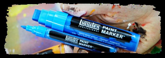 Einzelstifte 2  mm 50 verschiedene Farbtöne Liquitex Paint Marker