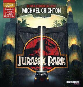 Michael-Chrichton-Jurassic-Park-2-MP3-CDs-NEU-Hoerbuch-Oliver-Rohrbeck
