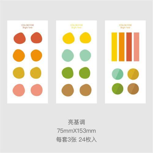 24pcs Irregular Round Macaron Stickers DIY Diary Scrapbooking Decorations