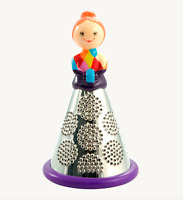 Pylones Mademoiselle Cheese Grater Vegetable Purple Lady Kitchen Decor Figurine