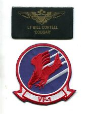 BILL COUGAR CORTELL TOP GUN MOVIE COSTUME F-14 TOMCAT SQUADRON NAME TAG PATCH ST