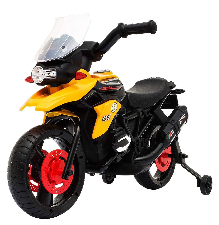 Moto Cross Elettrica per Bambini con Rotelle 6V Kids Fun Motocross Arancio Cross