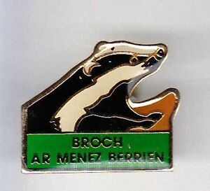 RARE-PINS-PIN-039-S-ANIMAL-BLAIREAU-BROCH-AR-MENEZ-BERRIEN-29-A4
